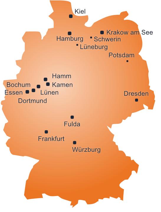 Standorte der immoweb AG